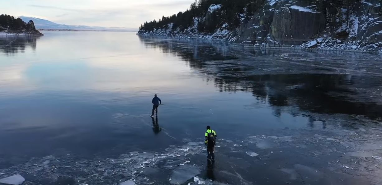 Canyon Ferry Ice Skaters