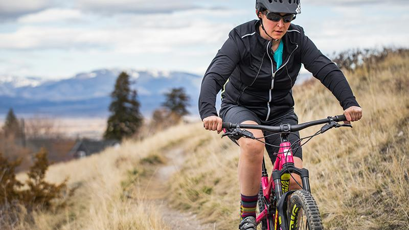 Sharla Dosier, NP-C mountain biking